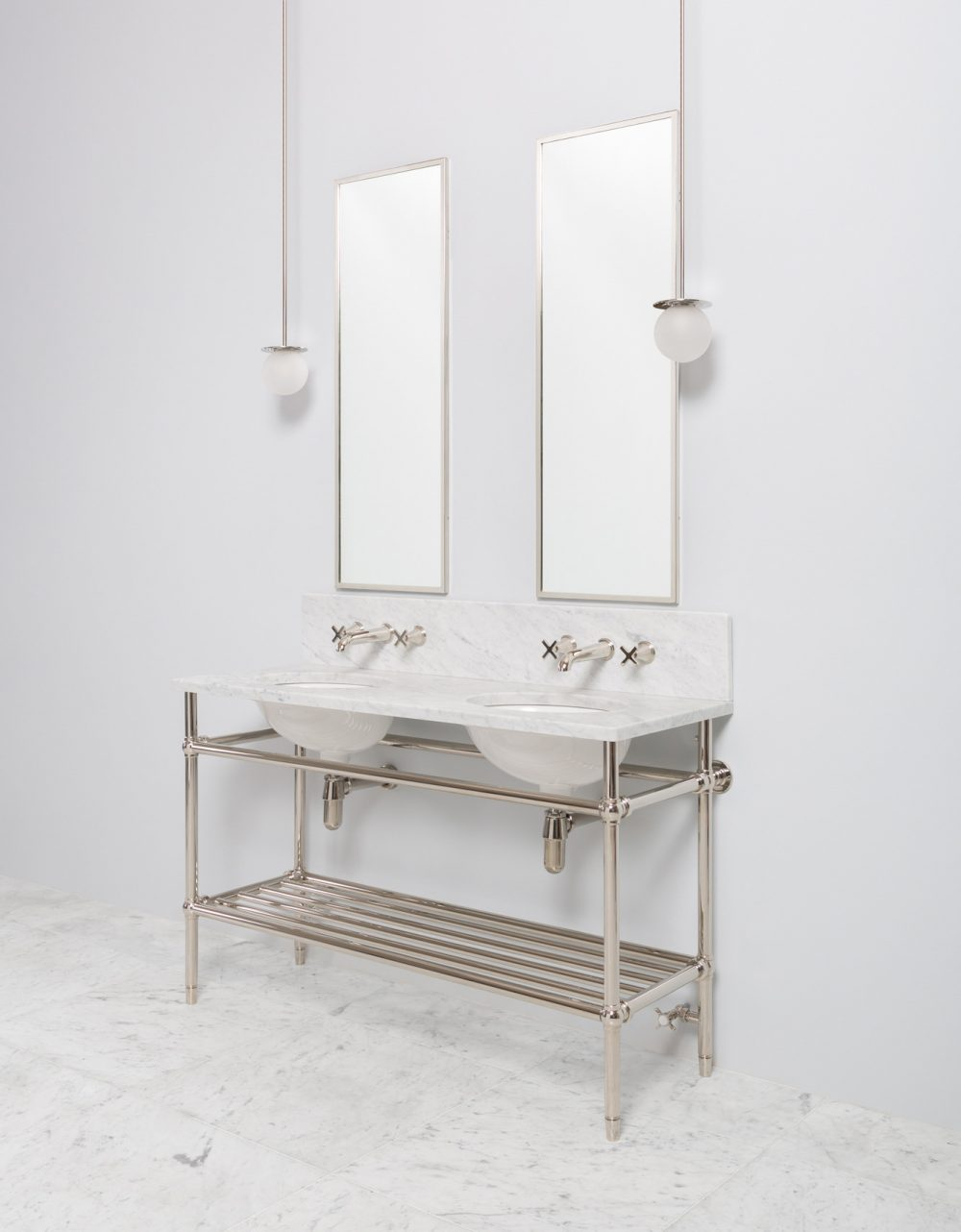 Bellmax Double Metal Vanity Unit