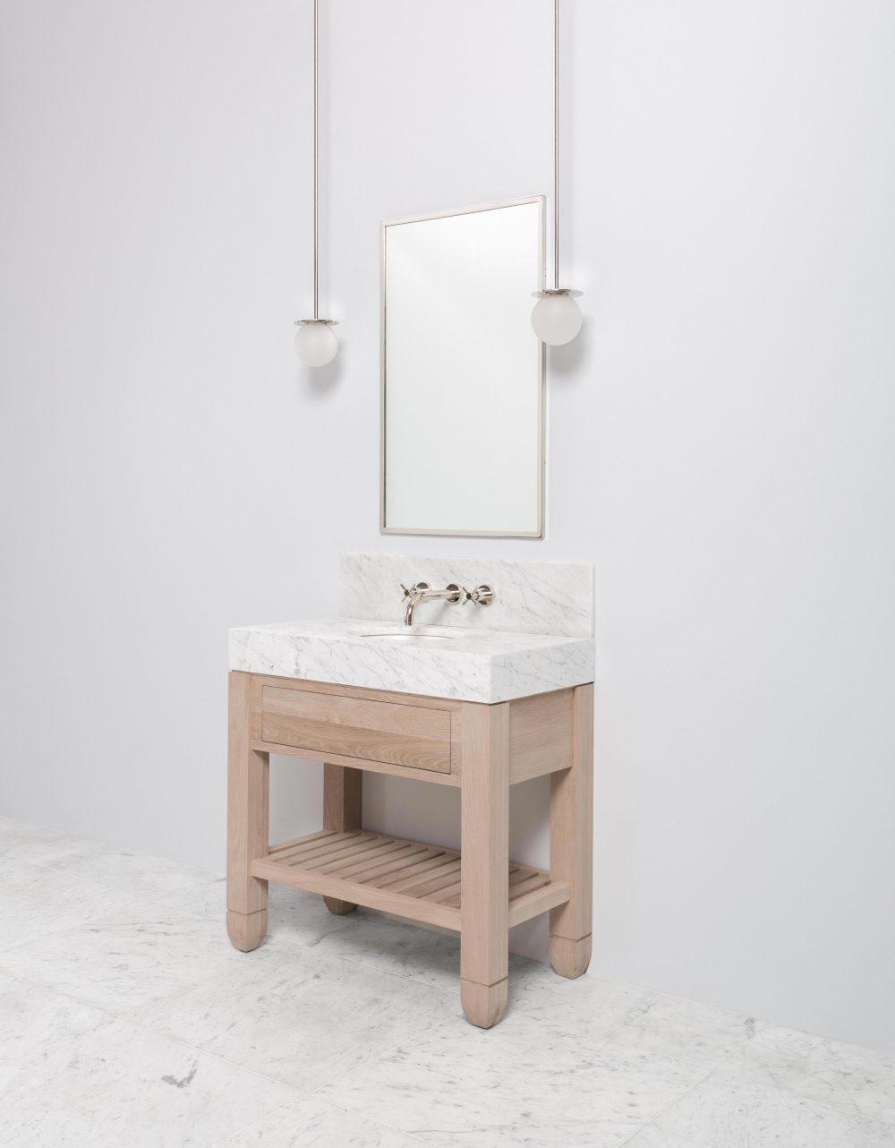Cavendish Block Mid Wooden Vanity Unit